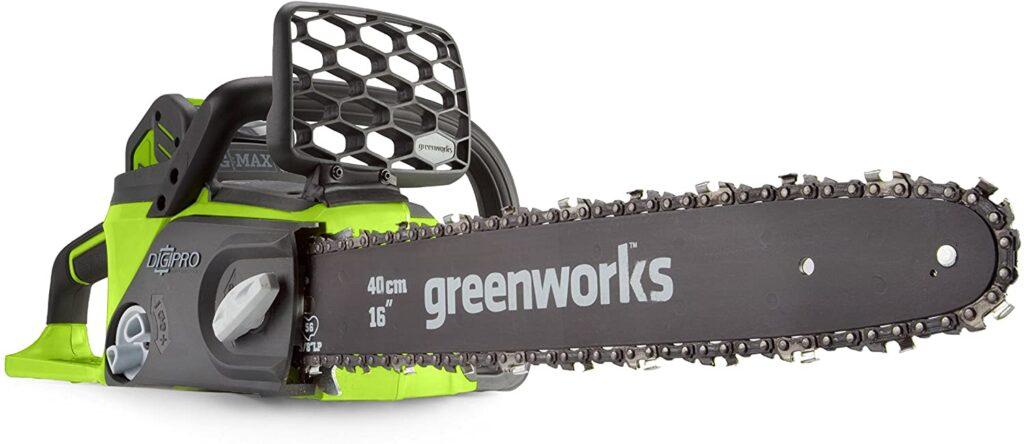 Motosierra de bateria Greenworks GD40CS40