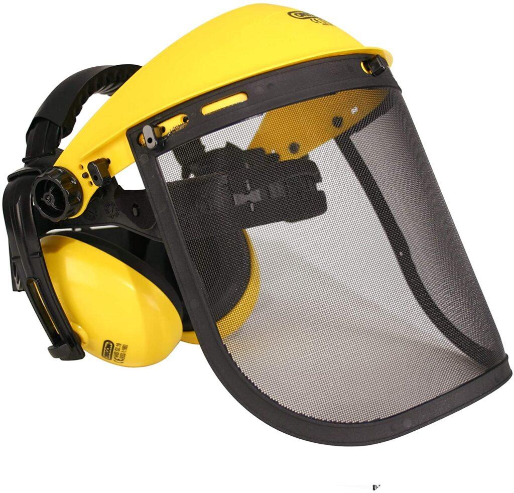 Careta protectora con visor + auriculares Oregon