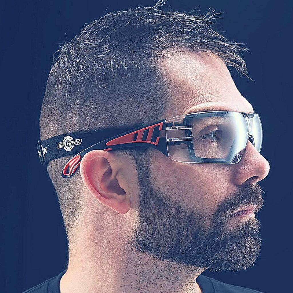 Gafas protección motosierra anti serrin en ojos