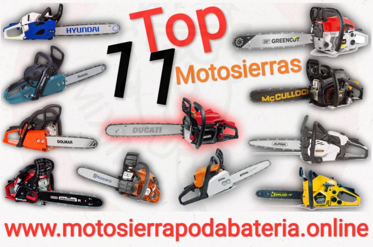 Top 11 Mejores Motosierras Gasolina