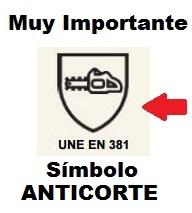 Importante!!! Simbolo proteccion anticorte motosierra UNE EN 381