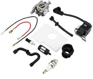 Kit recambios, bobina, carburador, bujia, filtros, linea combustible, linea aceite, tobera admision motosierra Stihl ms170 ms180